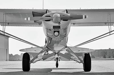 Photograph - Super Cub In Black And White by Chris Buff