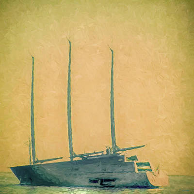 Photograph - Super Sailing Yacht  by Tony Grider