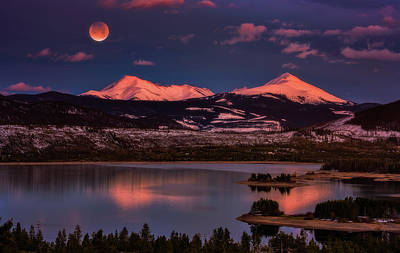 Royalty-Free and Rights-Managed Images - Super Wolf Blood Moonrise by Darren White
