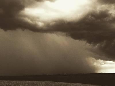 Photograph - Supercell On The Horizon by Michael Oceanofwisdom Bidwell
