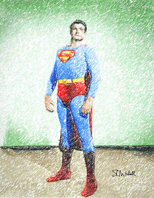 Drawing - Superman by Stephen Mitchell