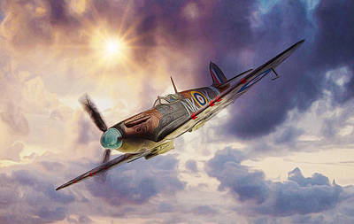 Digital Art - Supermarine Spitfire by Ian Mitchell