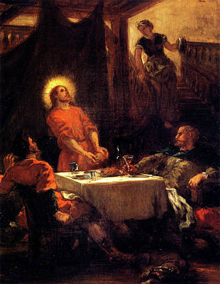 Painting - Supper At Emmaus  by Eugene Delacroix