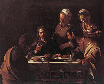 Painting - Supper At Emmaus  by Michelangelo Caravaggio