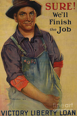 Painting - Sure, We Will Finish The Job Victory Liberty Loan, 1918 by Gerrit Albertus Beneker