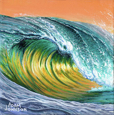Painting - Surf Into The Sunset by Adam Johnson