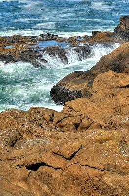 Photograph - Surf Pools Draining by Jerry Sodorff