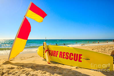 Photograph - Surf Rescue At Cottesloe Beach by Benny Marty