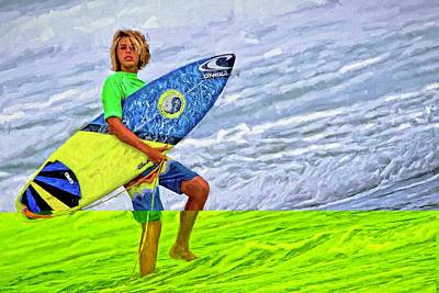 Photograph - Surfer Blonde Streaks by Alice Gipson