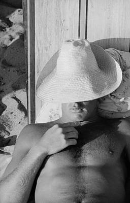 Close Up Photograph - Surfer Catching Some Sleep by Loomis Dean