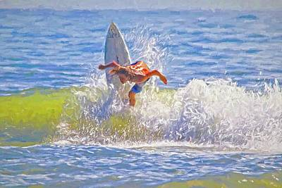 Photograph - Surfer Curls by Alice Gipson