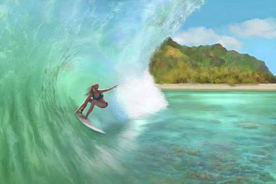 Painting - Surfer Girl by Jane Girardot