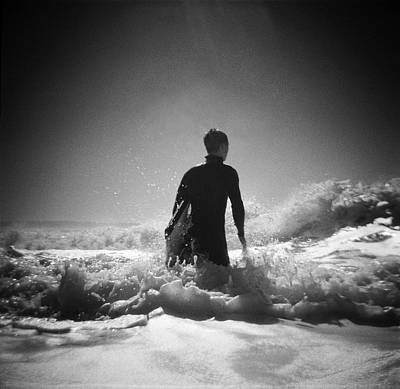 Photograph - Surfer In Ocean by David Johnston