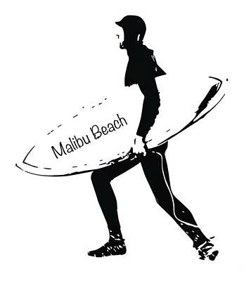 Photograph - Surfer Malibu Beach by John McGraw