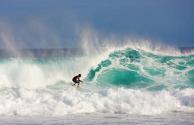 Balance Photograph - Surfer On Waves, Maldives by Keren Su