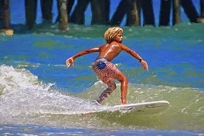 Photograph - Surfer Stripes by Alice Gipson