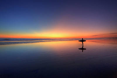 Photograph - Surfer Walking On Rainbow by Eric Lo