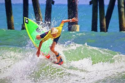 Photograph - Surfer Yellow by Alice Gipson