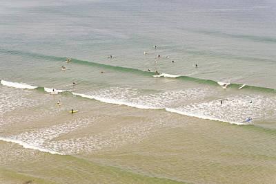 Photograph - Surfers, Biarritz, Aquitaine, France by John Harper