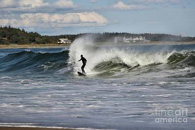Photograph - Surfing A Beautiful Wave At Popham Beach by Sandra Huston