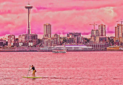 Photograph - Surfing Elliot Bay - Seattle by Allen Beatty