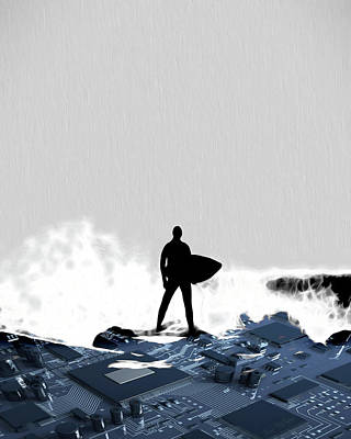 Digital Art - Surf's Up 2 by Pennie McCracken
