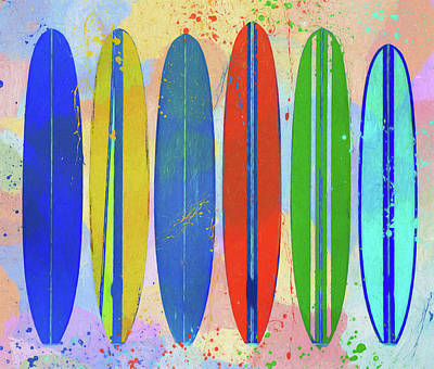 Sports Paintings - Surfs Up by Dan Sproul