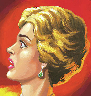People Digital Art - Surprised Short-haired Woman by Csa Images