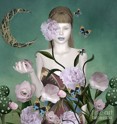 Surrealism Royalty Free Images - Surreal portrait of a redhead lady Royalty-Free Image by EllerslieArt