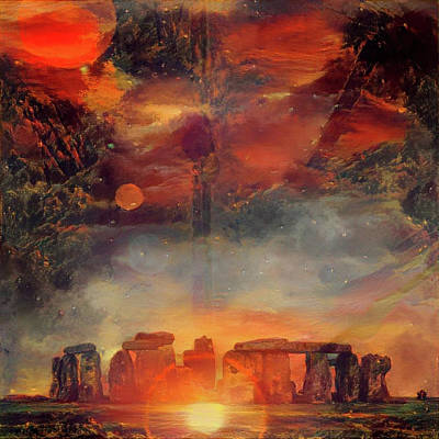 Surrealism Digital Art - Surreal Stonehenge by Bruce Rolff