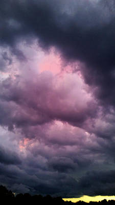 Surrealism Royalty-Free and Rights-Managed Images - Surreal Sunset Storm  by Ally White