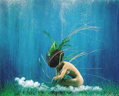Naked Photograph - Surreal Woman Underwater by Patrizia Savarese