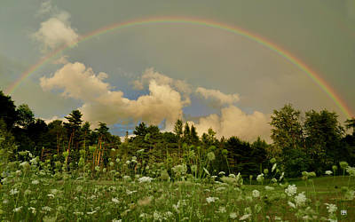 Photograph - Surry Rainbow by John Meader