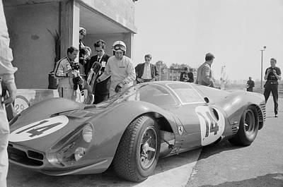 Photograph - Surtees Tests Ferrari by Reg Lancaster
