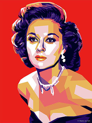 Colorful Button - Susan Hayward by Stars on Art