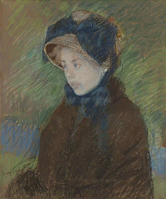 Pastel - Susan In A Straw Bonnet by Mary Cassatt