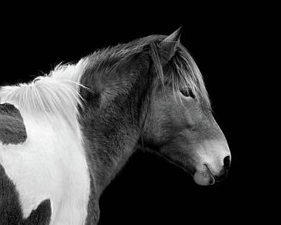 Susi Sole Portrait In Black And White Art Print