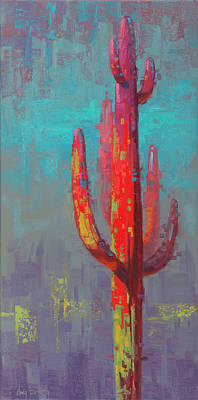 Day Of The Dead Inspired Paintings - Suspect Saguaro Series #2 by Cody DeLong