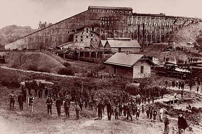 Photograph - Susquehanna Coal Company, Breaker No. 6 - 1870 by Doc Braham