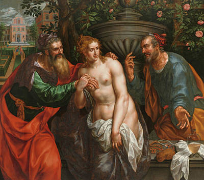 Painting - Suzanna And The Elders by Hendrick de Clerck
