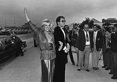 Photograph - Suzanne Somers Arrives At The Emmy by George Rose