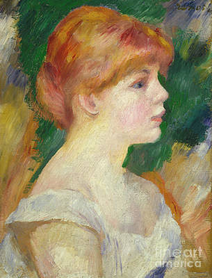 Painting - Suzanne Valadon, Circa 1885 by Pierre Auguste Renoir