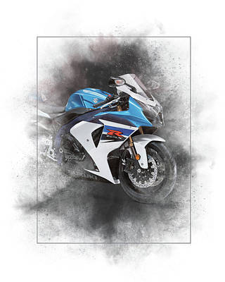 Mixed Media - Suzuki Gsx-r600 Painting by Smart Aviation