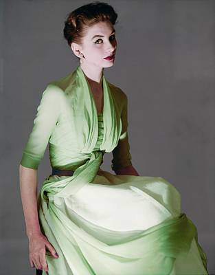 Photograph - Suzy Parker In A Dior Ensemble by Horst P. Horst