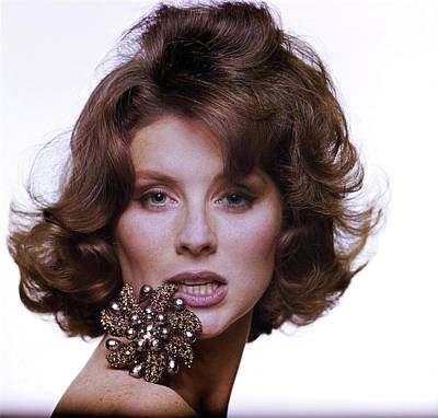 Photograph - Suzy Parker With A Vendome Brooch by Bert Stern