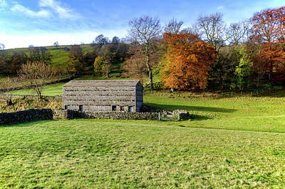 Mixed Media - Swaledale Autumn by Smart Aviation
