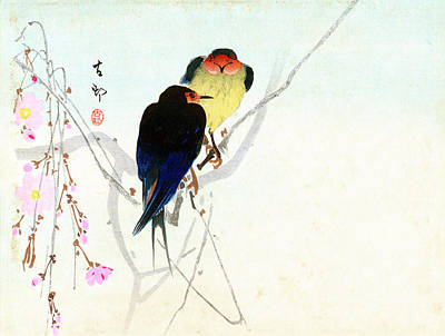 Painting - Swallow by Koson