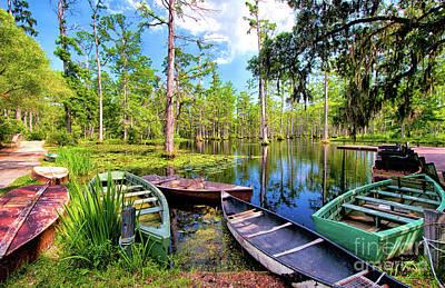 Photograph - Swamp Boats Waiting by Dan Carmichael