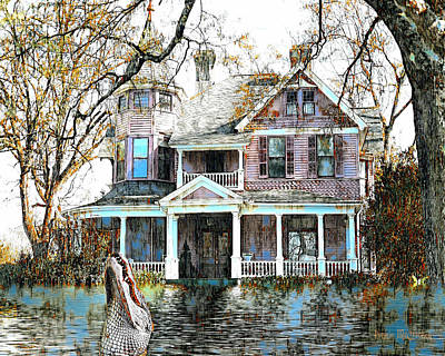Digital Art - Swamp House by Pennie McCracken