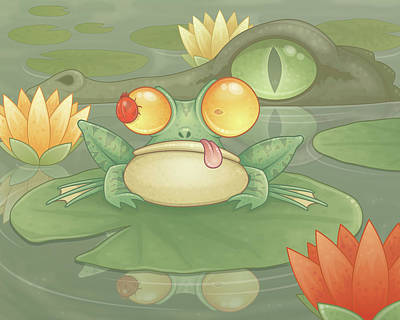 Lilies Digital Art - Swamp Snack by John Schwegel